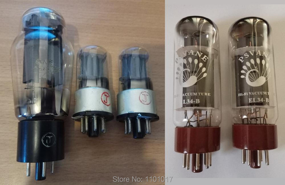 EL34 Tube Amp's 5 Set of Tube HIFI EXQUIS Chinese 6N8P/6H9Cx2, 5Z3P/5U3C/5U4x1, PSVANE EL34-Bx2 свитшот print bar h u m a n z