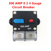 Car 12V 300 AMP 0 2 4 Gauge MC Audio Circuit Breaker Fuse Holder Insurance Block