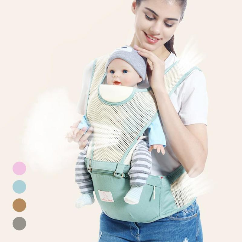 Baby Carrier Multifunctional Breathable Kangaroos BackPack Infant Sling Carrier Hip Seat Baby Carrier for All Seasons XV5 baby hipseat four seasons breathable baby shoulder carrier cotton baby carrier infant backpack for kids toddler sling md bd08