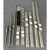 SBR 16 Linear Guide 6 Sets SBR16 300/700 / 1100mm + Ball Screw Set SFU1605 350/750 / 1150mm + BK / BF12 CNC Parts