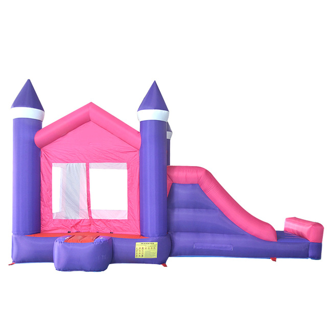 Videur gonflable de cour avec des glissières gonflables de glissière jeux château plein dentrain pour la maison gonflable de rebond de partie denfants