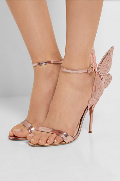 Ravrry Single Buckle Strap Butterfly-knot Thin High Heel Sandal Metalic Patent Leather Young Girls Fashion Sitletto Heels Pumps