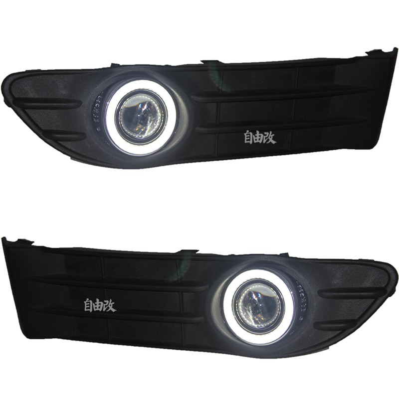 DRL daytime running light COB angel eye, projector lens fog lamp with cover for volvo s40, 2 pcs led drl daytime running light cob angel eye projector lens fog lamp with cover for nissan versa sunny 2014 15 2 pcs