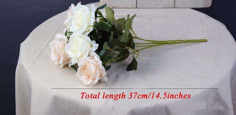 roses artificial flower bouquet wedding home decor (25)