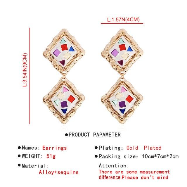 Женские многослойные акриловые серьги модные геометрические