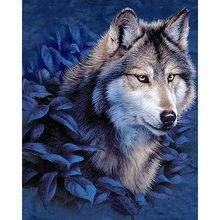 Yikee алмазная живопись волком вышивка 5d аксессуары k238