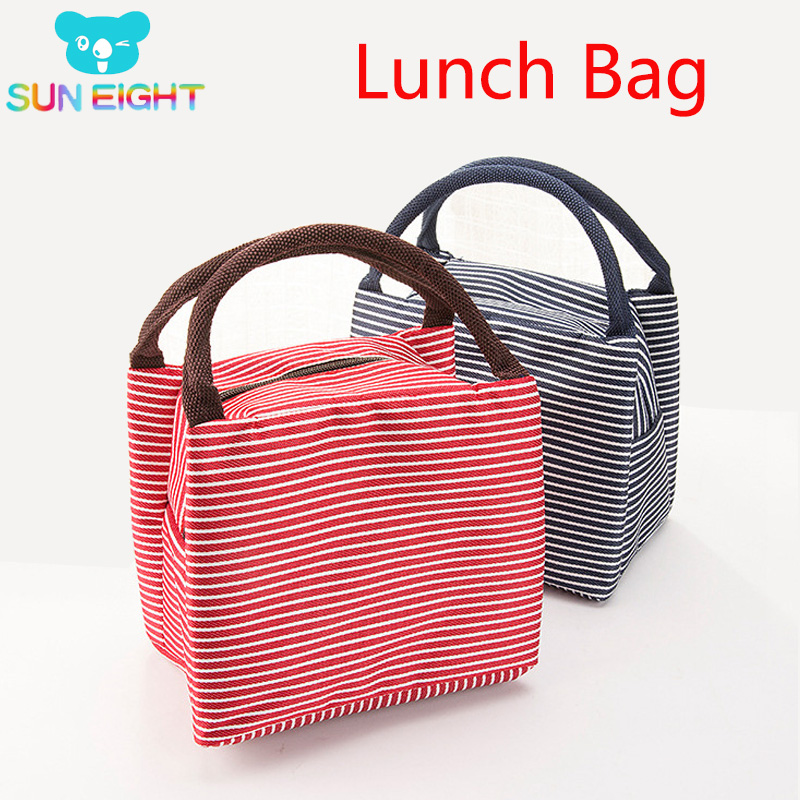 SUN EIGHT Fresh Food Bag Breakfast Bag Handbag Keep Warm Lunchbag For Kid School Bag Light Out Door Shopping Bag