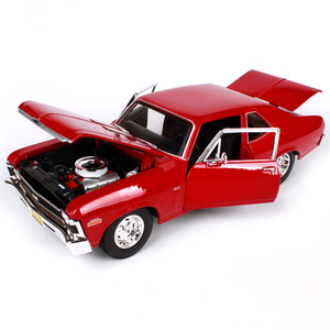 Maisto 118, chevrolet nova ss, красно-синий автомобиль, литой под давлением, роскошный винтажный автомобиль, модель старого автомобиля, коллективный вып...