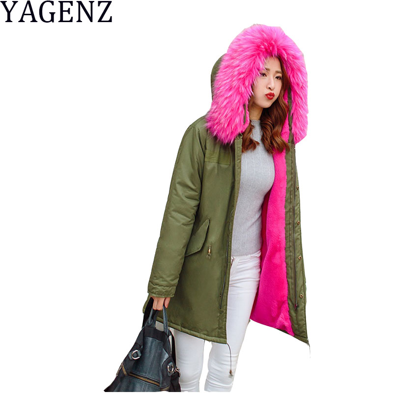 New Fashion 2017 Winter Jacket Women Korean Loose Large Fur Collar Hooded Overcoat Female Parkers Medium-long Warm Cotton Coats 2017 winter classic fashion fur hoodie coat jacket women thick warm long sleeve cotton coats student medium long loose overcoat