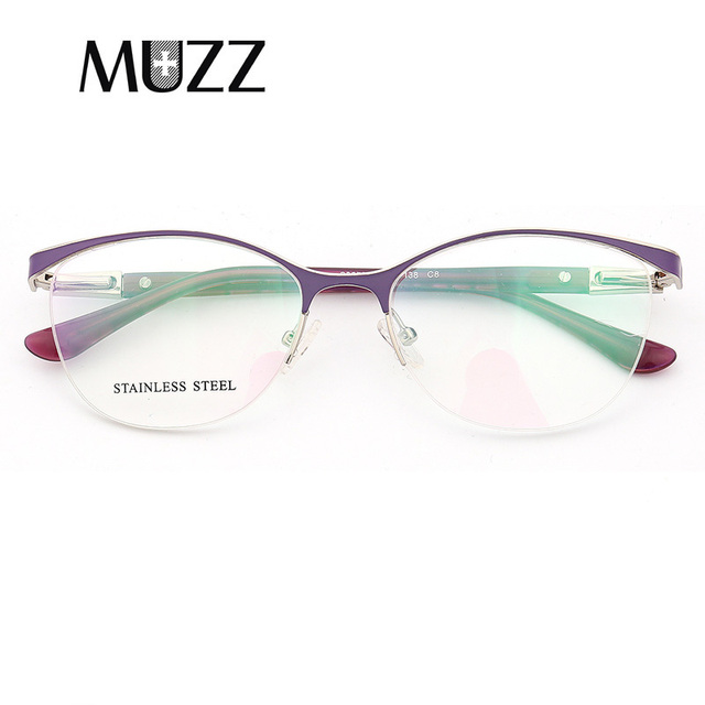 422a35fa1dc8 MUZZ Cat Eye Style Women Optical Glasses Frames Metal Glasses Frame Women Prescription  Eyewear Clear Myopia Computer Eyeglasses