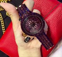 2017 Fashion Watch Women's Luxury Brand With Steel Band Movement Clock Quartz Crystal Rhinestone Watch Dress Watch Vintage relog