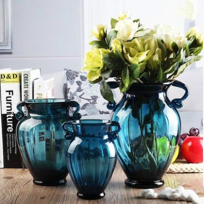 Blue Glass Terrarium Glass Vases Garden Pots Decorative Vase Teraryum Vases  Wedding Decoration Terrarium Glasss Containers In Vases From Home U0026 Garden  On ...