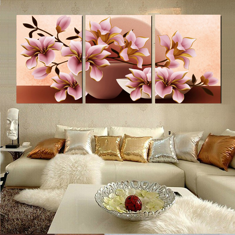 ᗚModular De Pared de Flores Pintura Lienzo Arte de la pared Pintura ...