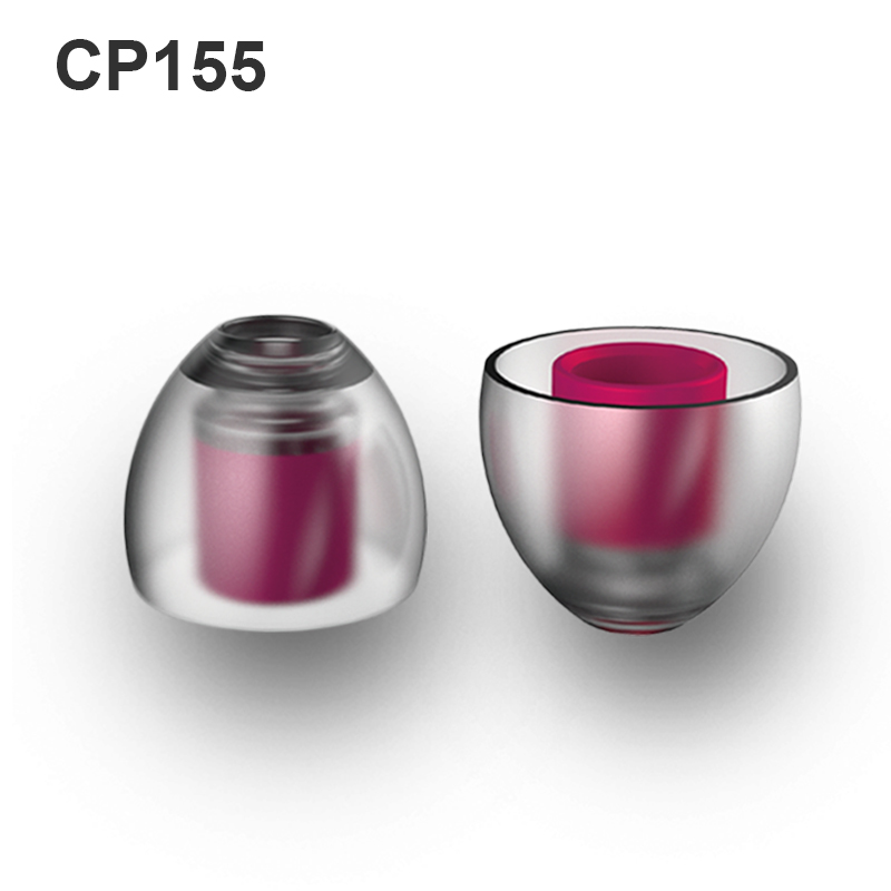 SpinFit CP155 Patented Silicone Eartips For Replacement 5.5 Mm Nozzle Dia (use For Larger Sound Guiding Tube)