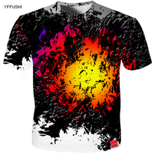 YFFUSHI 2018 Male 3d t shirt Fashion Summer T Top Dress Cool Crushed Flame Men High Quality  Hip Hop Tees Plus Size 5XL