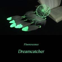 Мода Подарок Индии Флуоресценции Dreamcatcher Фосфоресцирующий Колокольчиков и Висит Кулон Dream Catcher Regalo BMW079