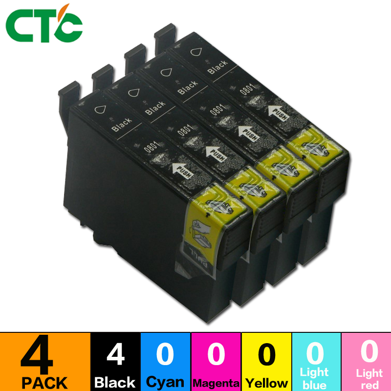 4balck PX650 Ink Cartridges Compatible For R285 R360 RX560 RX580 RX595 RX680 RX685 P50 PX650 PX660 PX730WD PX800FW printer