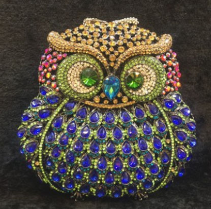 luxury fashion owl crystal clutch evening bag Golden party purse women wedding bridal handbag pouch soiree pochette for ladies women luxury rhinestone clutch evening handbag ladies crystal wedding purses dinner party bag bird flower purse zh a0296