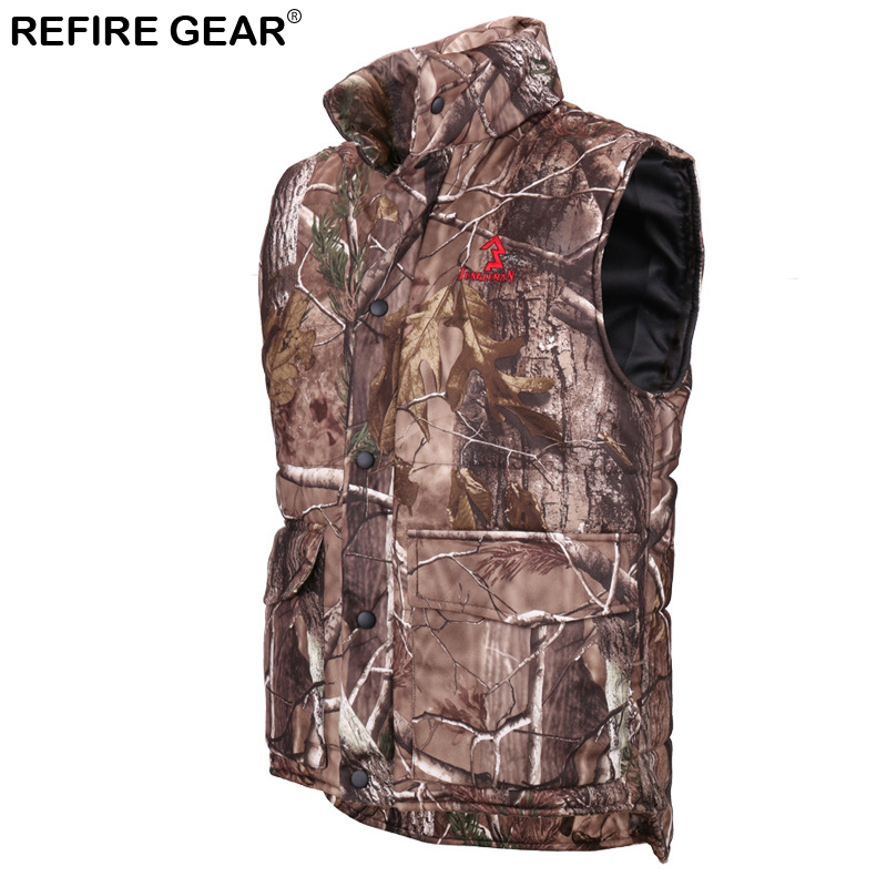Winter Warm Fishing Camouflage Vest Men Thermal Cotton-Padded Forest Outdoor Clothes Sle ...