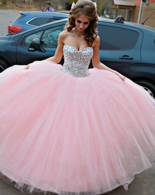 7d490eaa8d Sweetheart Floor Length Elegant Hot Pink Quinceanera Dresses Ball Gowns 2015  Cheap Quinceanera Gowns Sweet Sixteen Dresses
