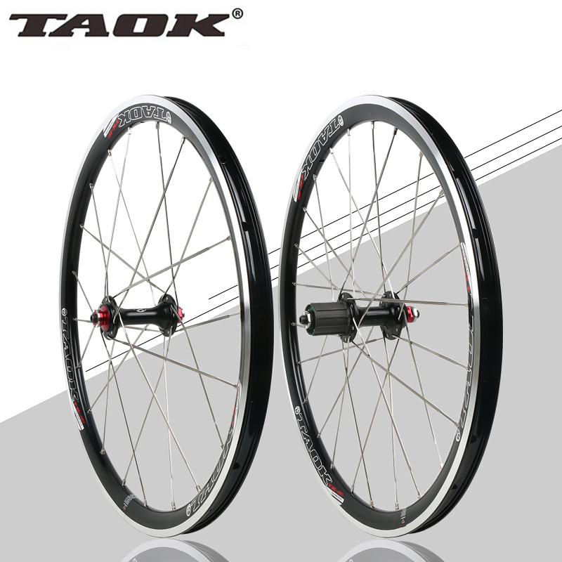TAOK 20 inch 451 folding bicycle wheel Perrin BMX 451 cassette V brake hub bearing
