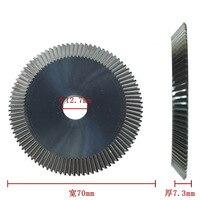 P551 Raise Double Fase Tungsten Key Cutter Saw Blade 70*7.3*12.7mm*90T Blade Cutter For Key Machine 100D 100E 100E1 100F 100G