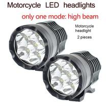 12 В 60 Вт мотоциклетные светодиодный фар Moto spotlight глава Дополнительная лампа только дальнего света 6000 К мотоцикл фар DRL Противотуманные фары