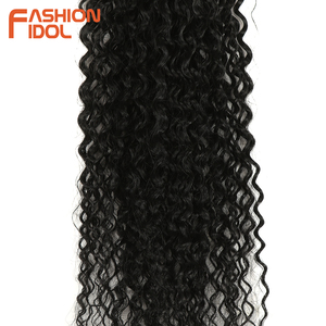 Image 5 - FASHION IDOL Afro Kinky Curly Synthetic Hair Extensions Bundles Ombre 6Pieces Heat Resistant Weave Hair Bundles For Black Women