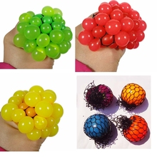 Random 1pcs Novelty Anti Stress Cube Face Reliever Grape Ball Autism Mood Squeeze Relief Healthy Gadget