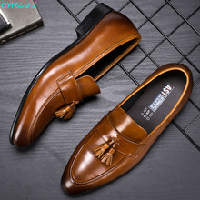 Handmade Italy Design Tassel Mens Oxford Shoes Genuine Leather Fashion formal shoes Wedding Party Formal Dress