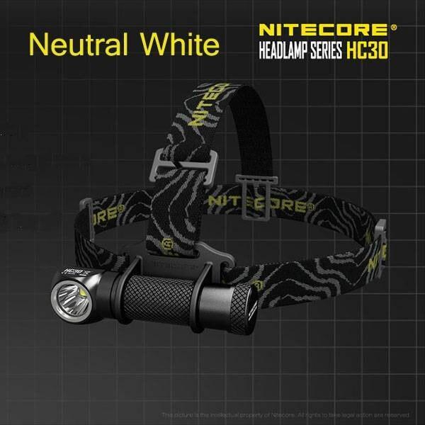 Nitecore HC30 XM-L2 U2 Neutral White Aluminum alloy 1000LM 7 modes Headlamp head lamp light flashlight+Clip+O-rings+switch cover oasis hc 30 l white