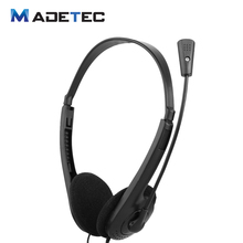 MADETEC Headphone 3.5mm Stereo Headset Earphones with Microphone Mic Adjustable Headband for Computer Laptop Desktop PA174