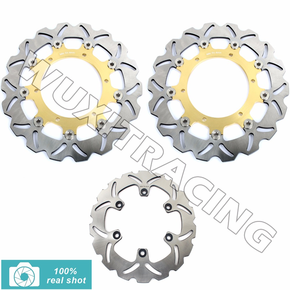 цены на Front Rear Brake Discs Rotors for YAMAHA XJ 600 N YZF R 600 1000 THUNDERCAT THUNDERACE 96-04 XTZ 660 TENERE TDM 900 YZF R1 98-01