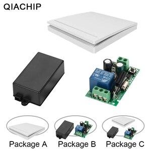 Image 1 - Qiachip 433 mhz interruptor de controle remoto sem fio ac 85 v 110 v 220 v 1ch relé 433 mhz módulo receptor aprendizagem luz controlador da lâmpada