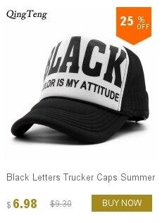 98532c14e633 Black white trucker hat heating network baseball cap adjustable hip hop  shade outdoors bone Monogram gorros jordan for men women