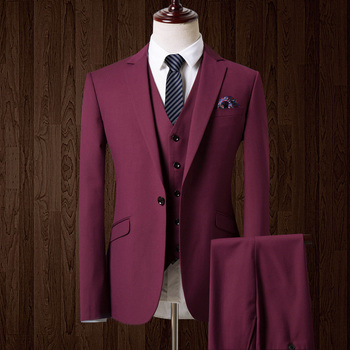 HB078 Men wine red tuxedo men suit 3 pieces mens formal suits costume homme wedding suits for men mens suits tailored made 2018