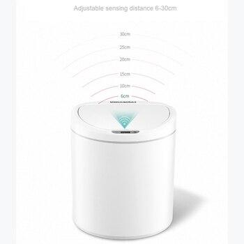 NINESTARS אינטליגנטי חיישן אשפה יכול אינטליגנטי חישה אחד-כפתור אוטומטי איטום פחי אינדוקציה כיסוי אשפה 8L