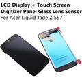Black / White LCD Display + Touch Screen Digitizer Panel Glass Lens Sensor For Acer Liquid Jade Z S57 Replacement Repair Part