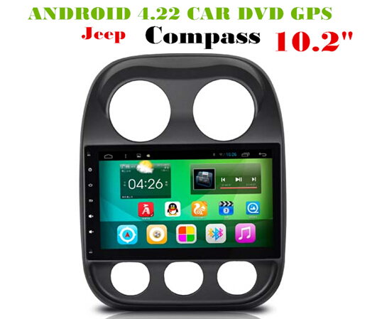 Android 6.0 Car Dvd Gps Navi Audio for <font><b>JEEP</b></font> COMPASS 2016 HD1024*600 OBD 1GB DR 8GB 3g WIFI DVR support. Quad-core