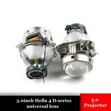 3.0 inch car styling Bixenon hid Projector lens hella 6 new version metal holder retrofit d1 d2 d3 d4 bulb car assembly Modify