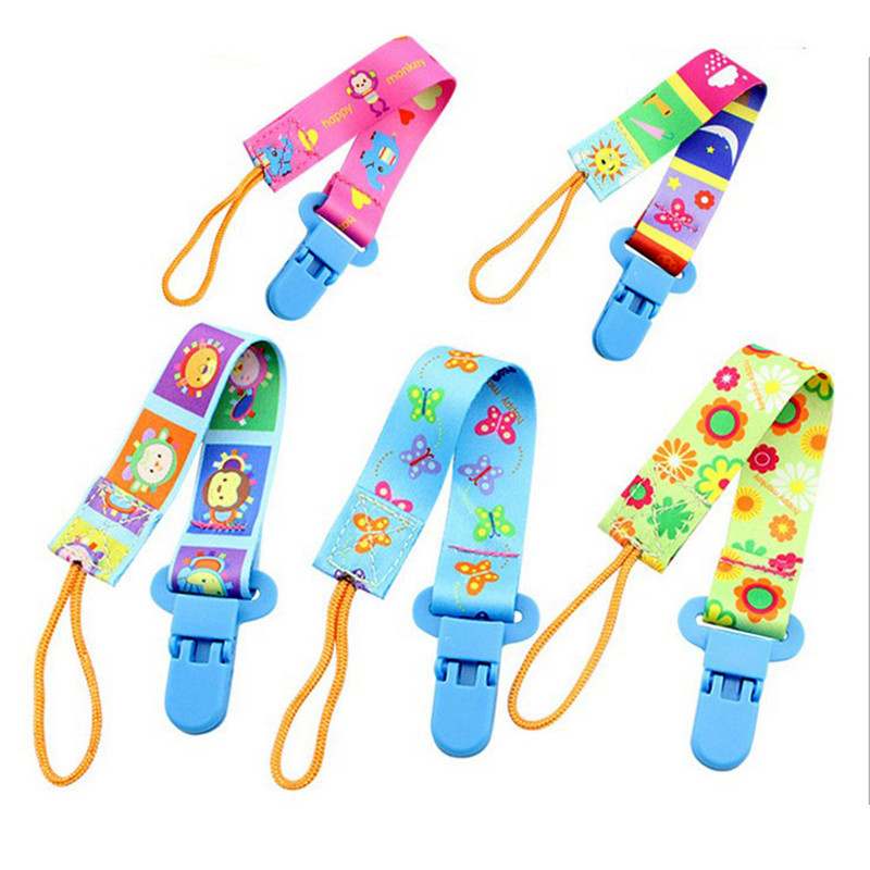 For Infant Feeding Colorful Baby Pacifier Clip Chain Dummy Holder For Bebe Nipples Para Children Pacifier Clips Pacifier Holder