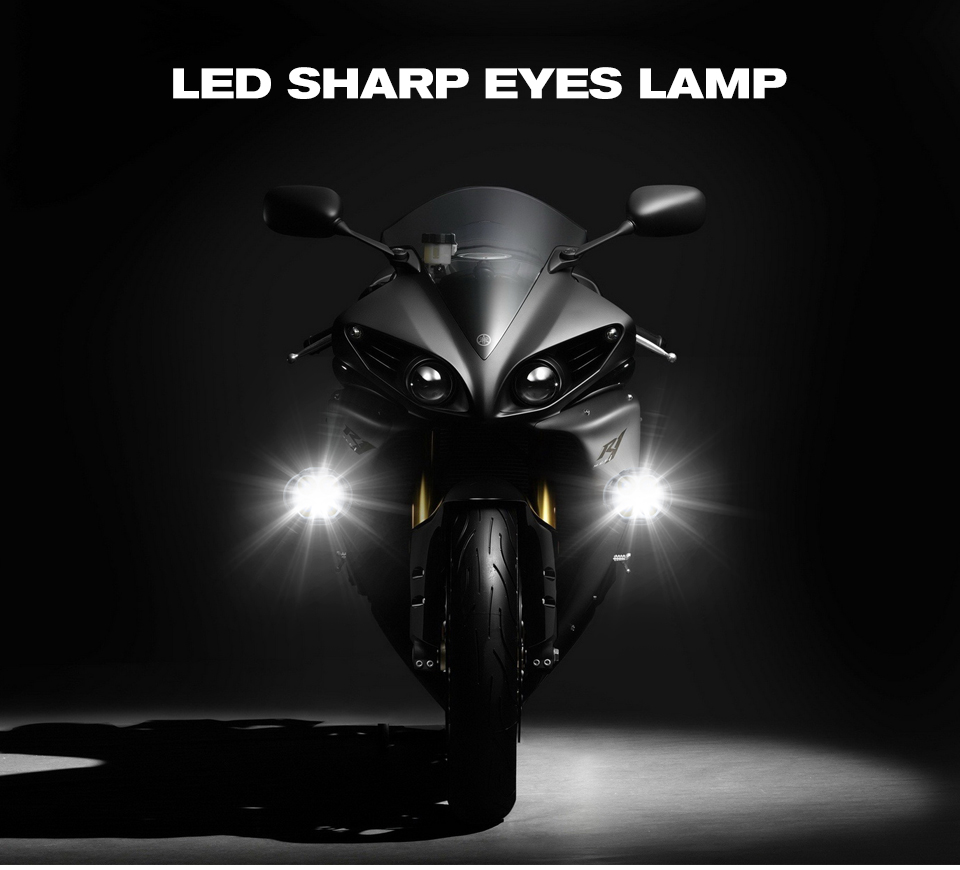 LED Motorcycle Headlight Scooter ATV 12V 6500K Fog Spotlight LED Motorbike Moto Working Spot Light With switch DRL Car Headlamp (1)