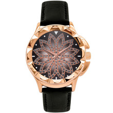 Time To Run Girls Fashion Trend Belt Brand Quartz Watch Casual Crystal Dress Wristwatch Leather Strap
