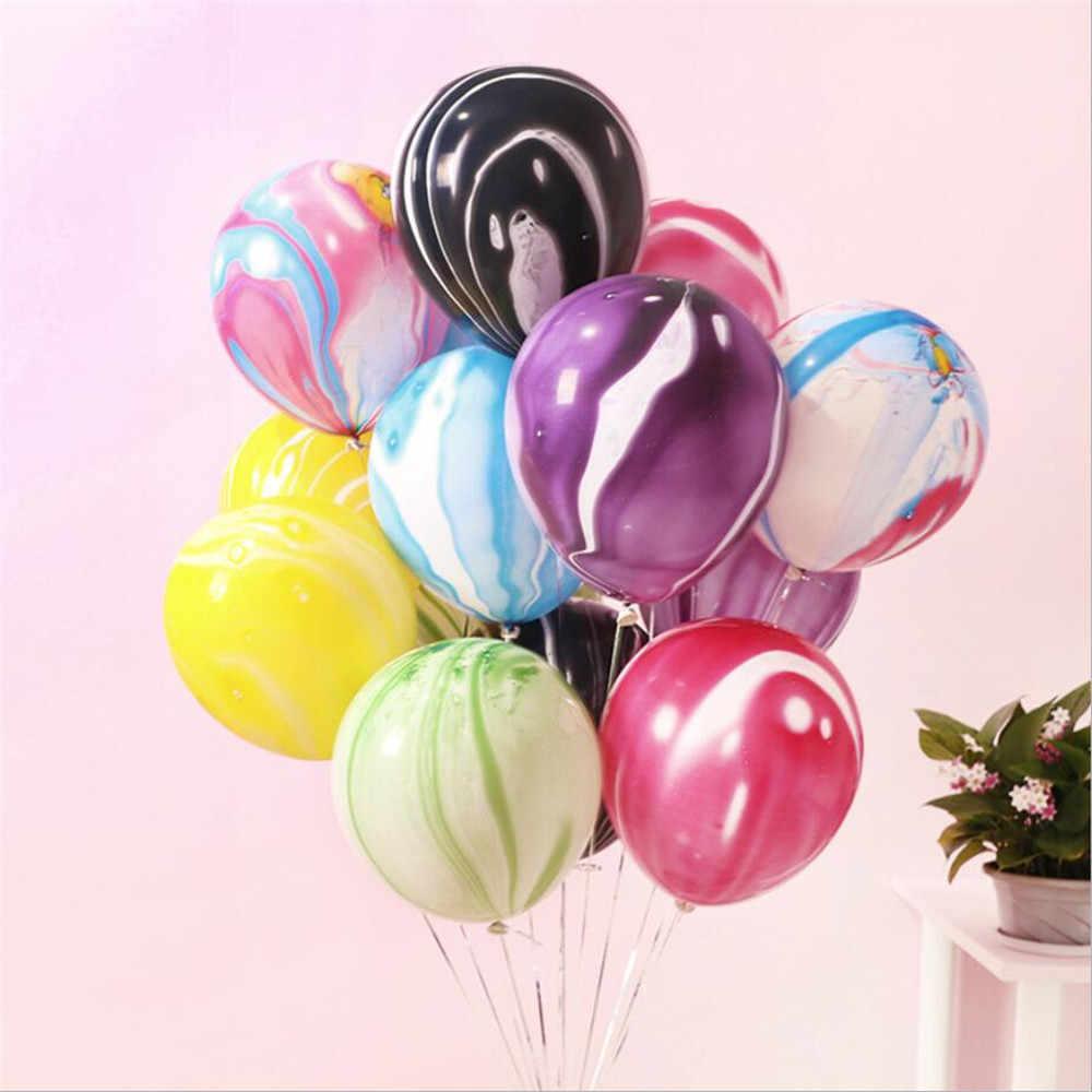 5 ชิ้นสีสันบอลลูนสีชมพูบอลลูนบอลลูนวันเกิด Happy Birthday Baby Shower ตกแต่งเด็กอุปกรณ์หมวกการ์ตูน
