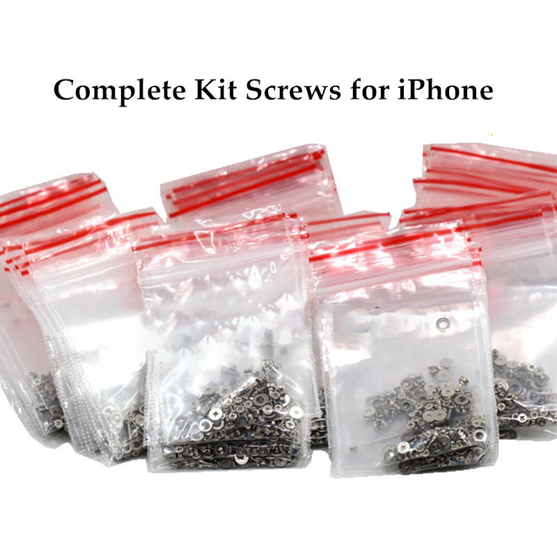 Full Screw Set with 2 Bottom Screws for iPhone 6 plus 6s plus 7 8 plus Repair Bolt Complete Inner Kit Replacement Repair Parts