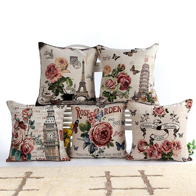 vintage decorative cushions pillowcase cushion capa de almofada
