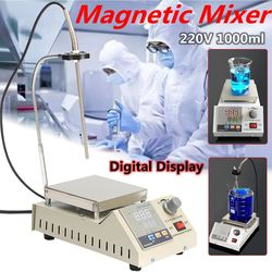 220 V 85-2A Magneetroerder met Digitale Thermostaat + timing functie Hot Plaat Verwarming Mixer 2400 rpm Verwarming Laboratorium Tool
