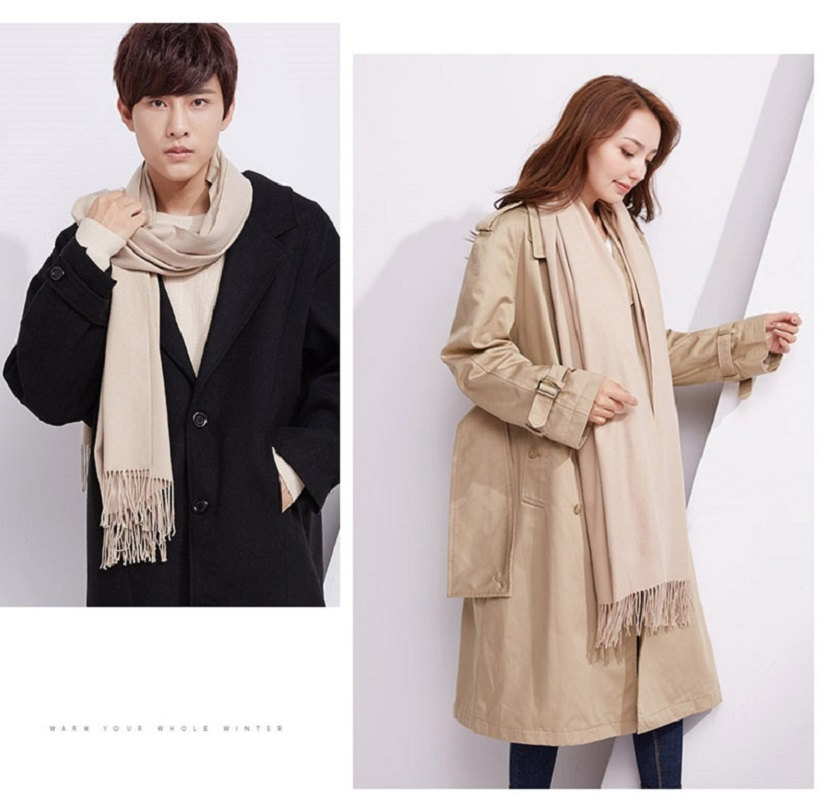 Winter Scarf for Men Women Couple Female Scarves Long Shawl Wrap Blanket Pashmina Shawl Stole Wrap Tippet