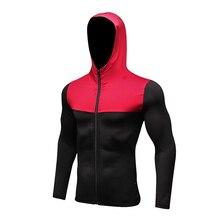 Long Sleeve Sport Shirt Men Hat+Zipper Women's Running T-shirts Gym Sports Clothing Sport Top Men's Sportswear Rashgard