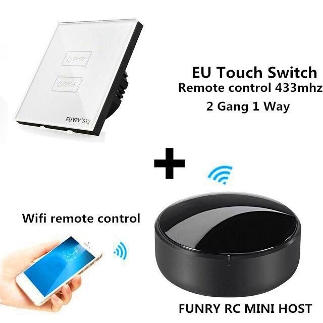 FUNRY Automation Kit Wifi APP Switch RC Mini Smart Wireless Remote Control Switch 433mhz WIFI Smart Light Switch AC 170-240V